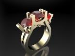 טבעת אבני חן- טבעת רובי לאישה