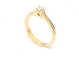 טבעת יהלום 0.17 קראט קלאסית זרועות משובצות - URANUS