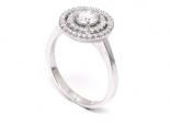 """טבעת יהלום 0.50 קראט עשירה בשיבוץ 2 שורות סביב היהלום - """"SATURN"""""""