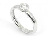 טבעת יהלום 0.25 קראט בשיבוץ ספל - SATURN
