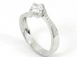 """טבעת יהלום 0.50 קראט זרוע מעוקלת ומשובצת - """"ORION"""""""
