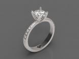 טבעת סוליטר קלסית בעיצוב יוקרתי מתרחב
