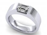 טבעת עם יהלום לגבר ולאישה - חיתוך אמרלד